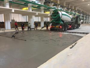 verser de beton